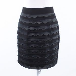Darling black tiered pencil skirt S